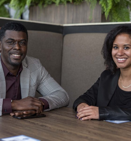 Gebeya Team - Amadou Daffe, CEO and Co-founder (l) and Becky Tsadik, Dir...